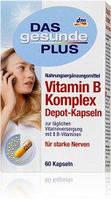 Витаминный комплекс B для укрепления нервной системы 60 капсул Das Gesunde Plus Vitamin B Komplex Depot-Kapseln