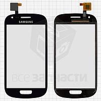 Сенсорный экран для мобильного телефона China-Samsung I8190 S3 mini, емкостный, синий, (118*59мм), (88*53мм), #E952-CG-JXS-1305-HD