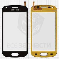 Сенсорный экран для мобильного телефона China-Samsung S7562, емкостный, черный, (118*59мм), (82*53мм), #XY-1065 2013