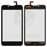 Сенсорный экран для мобильного телефона Fly IQ441, original, черный, #166100117