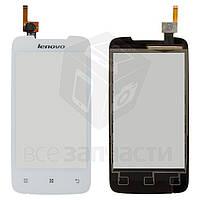 Сенсорный экран для мобильного телефона Lenovo A390, белый