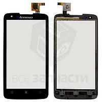 Сенсорный экран для мобильного телефона Lenovo S750, черный