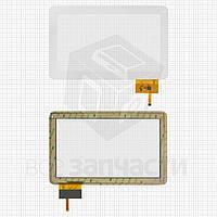 "Сенсорный экран для планшетов China-Tablet PC 10,1""; Assistant AP-100, AP-101; Globex GU110A; GoClever Tab A104, 12 pin, емкостный, белый, (257*159"