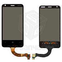 Сенсорный экран для мобильного телефона Nokia 620 Lumia, новая версия, (версия прошивки 3046.xxxx.xxxx.xxxx (AMBER)), rev3, черный