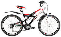 "Велосипед KINETIC SAMURAI 24"", рама 15"" ,черно-белый"