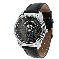 """Часы ZIZ """"Енот"""" (черный, серебро)"""
