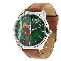 """Часы ZIZ """"Приключения ждут!"""" (коричневый, серебро)"""