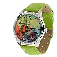 """Часы ZIZ """"Парижское настроение"""" (зеленый, серебро)"""