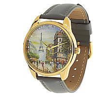 """Часы ZIZ """"Париж"""" (серый, золото)"""