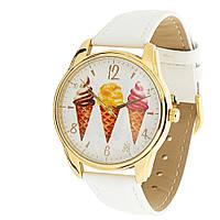 """Часы ZIZ """"Мороженое"""" (белый, золото)"""
