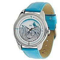 """Часы ZIZ """"Волна"""" (морская волна, серебро)"""