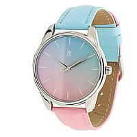 """Часы ZIZ """"Розовый кварц и безмятежность"""" (голубо-розовый, серебро)"""