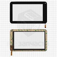 """Сенсорный экран для планшетов China-Tablet PC 7""""; Eken Eken W70; Wexler TAB 7008, 7"""", 12 pin, емкостный, черный, (189*112 мм),"""