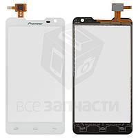 Сенсорный экран для мобильных телефонов Pioneer S90W; Prestigio MultiPhone 5044 Duo, белый, #CT4F044FPC-A1-E