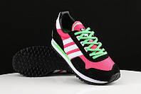 Кроссовки женские Adidas Originals ZX400 Hyper Pink Black White Lime Green. интернет магазин обуви, адидас