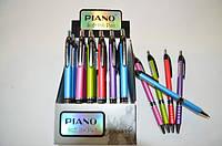 Ручка шар. авт. масляная РТ-165-С цветной корпус, синяя, 0.7mm,  PIANO