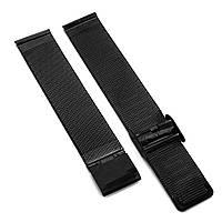 Ремешок для часов металлический, черный