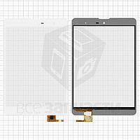 "Сенсорный экран для планшетов China-Tablet PC 7,85""; Texet TM-7857, TM-7858, TM-7868 3G, TM-7887, 7.85"", 6 pin, емкостный, белый, (196*130 мм),"