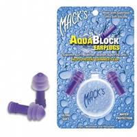 Беруши силиконовые Mack's AquaBlock (защита от воды) с контейнером, фиолетовые