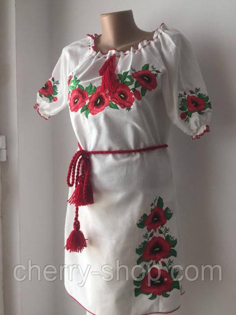 Женское платье с коротким рукавом