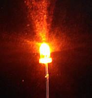 Светодиод 3 мм желтого свечения LED