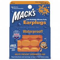 Беруши силиконовые Mack's Pillow Soft детские (защита от воды,шума до 22дБ,внеш.факторов), оранжевые