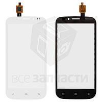 Сенсорный экран для мобильного телефона Fly IQ4404, белый