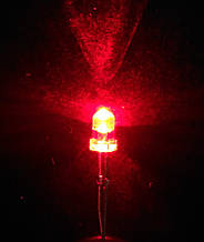Светодиод 3 мм красного свечения LED