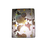 Блокнот на резинке В4 HDU106-4 (88 листов) клетка, кремовая бумага, обложка твердая-фольга