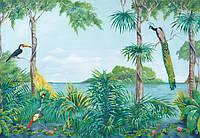 Фотообои флизелиновые на стену 366х254 см 8 листов: природа - Синяя лагуна №974