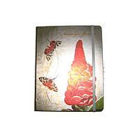 Блокнот на резинке В4 HDU152-4 (88 листов) клетка, кремовая бумага, обложка твердая-фольга