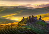 Фотообои флизелиновые на стену 366х254 см 8 листов: природа, Ландшафт Тосканы
