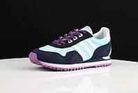 Кроссовки женские Adidas Originals ZX400 Blue Black Purple. интернет магазин обуви, адидас