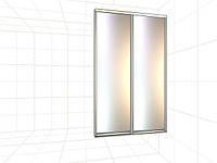 Раздвижная система шкафа-купе с наполнением зеркало 2100*2000