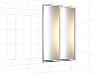 Раздвижная система шкафа-купе с наполнением зеркало 2300*1500