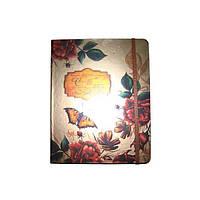 Блокнот на резинке В5 HDU156-4 (88 листов) клетка, кремовая бумага, обложка твердая-фольга