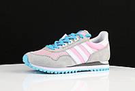 Кроссовки женские Adidas Originals ZX400 grey pink. интернет магазин обуви, адидас