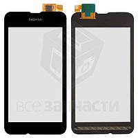 Сенсорный экран для мобильного телефона Nokia 530 Lumia, черный, analog, #Synaptics S2333B 44110572 AHFY891