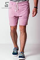 Шорты мужские трикотажные из трехнитки Wild one розовые, фото 1