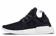"Кроссовки женские Adidas NMD XR1 Primeknit ""GLITCH"" Navy Blue. адидас нмд, магазин обуви"