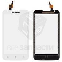Сенсорный экран для мобильного телефона Lenovo A680, (3G версия), белый, тип 2