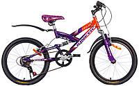 "Велосипед KINETIC NINJA 20"", рама 12"", оранжево-фиолетовый"
