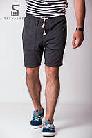 Темно-серые шорты из трехнитки Wild one