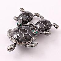 """Брошь """"Три черепахи"""""""