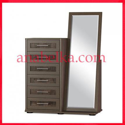 Комод  Токио 6Ш+ зеркало (Мебель Сервис), фото 2