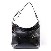 Черная сумка-мешок женский шоппер 2017 питон
