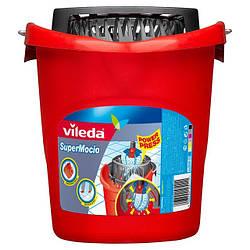 Відро з віджимом для стрічкових швабр Super Mocio, Vileda, 1 шт.