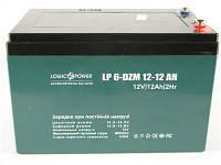 Аккумулятор тяговый 12V 12Ah LogicPower LP 6-DZM-12 F19 (клеммы под винтик), 10x10x15см