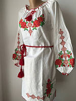 Белое платье с национальной вышивкой / Жіноче плаття з національною вишивкою