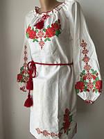 Белое платье с национальной вышивкой   Жіноче плаття з національною вишивкою 01777be939312